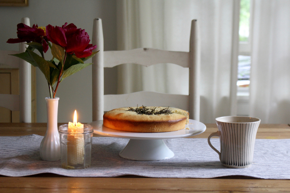 A Savory Rosemary Citrus Olive Oil Cake Homesong